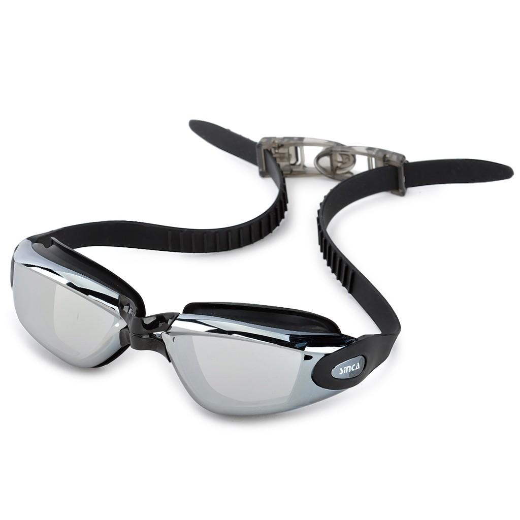 防霧電鍍防護游泳鏡勝嘉S1939MPC 鏡面塗層顏色:黑色透明黑