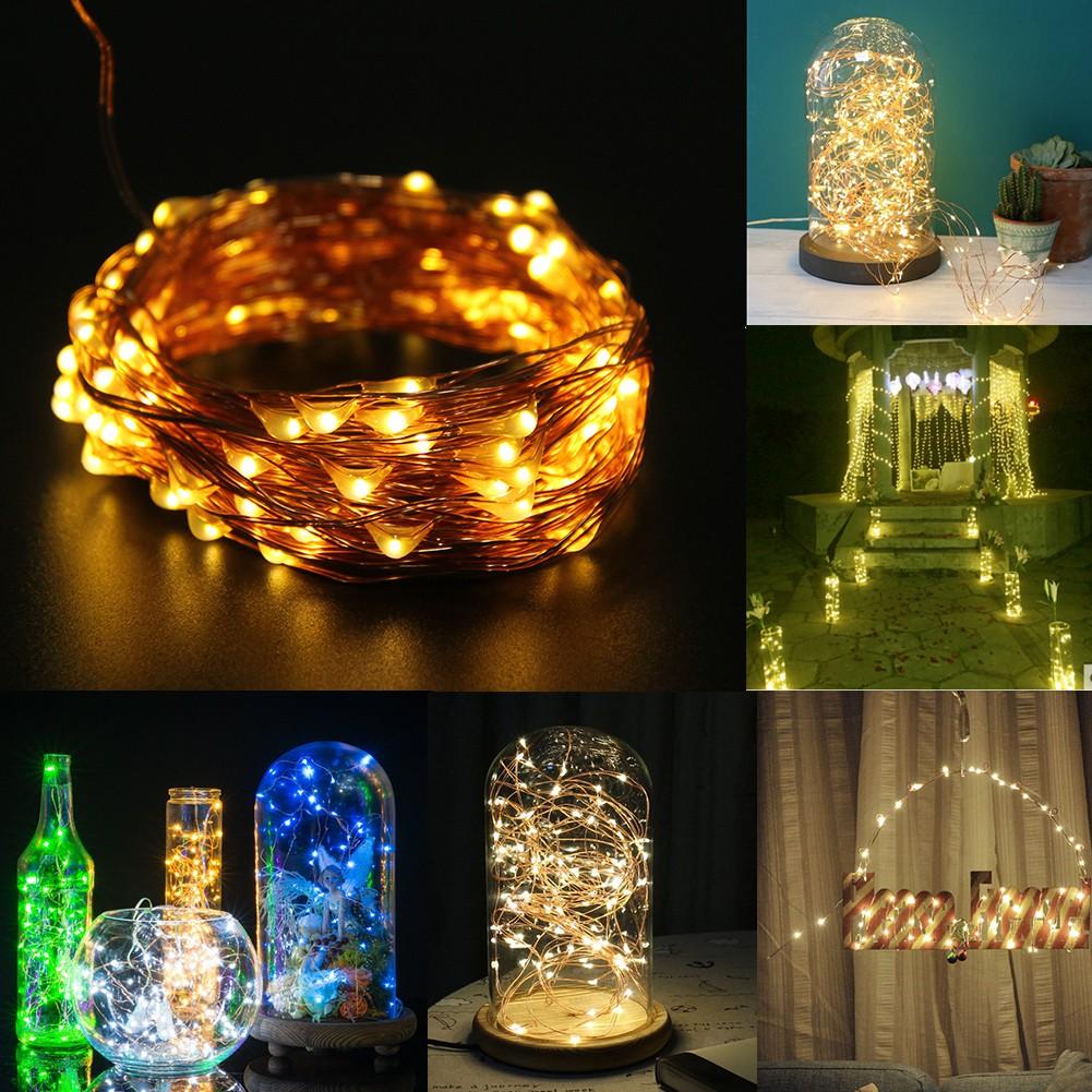 居家裝飾燈具8 健控制10 米100 燈銅線燈串暖白色裝飾燈具DIY 裝飾