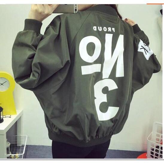 2017  女裝 原宿BF 風寬松工裝棒球服外套學生褂子外衣潮
