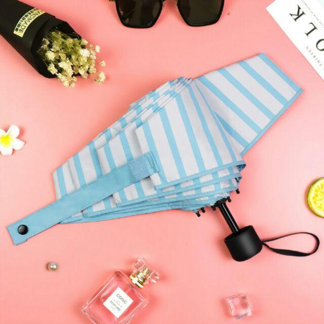 訫匠清新條紋 迷你五折傘超輕折疊條紋晴雨傘防曬防紫外線傘遮陽傘雨傘雨具