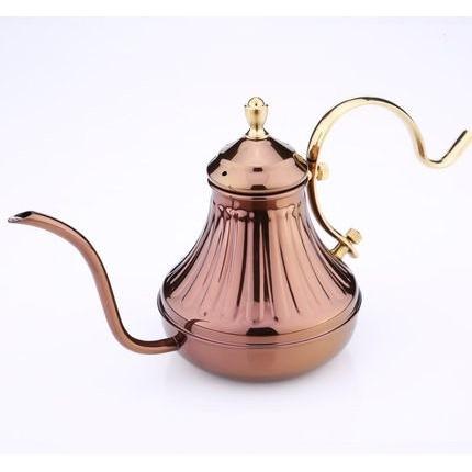 晴天咖啡☼古銅色420cc 宮廷壺古銅金手沖壺咖啡壺細口壺細嘴壺420ml 銅壺可參考