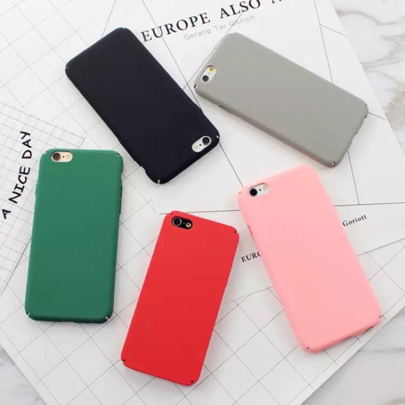 五色 到實拍 IPhone 硬磨砂復古款素面手機殼