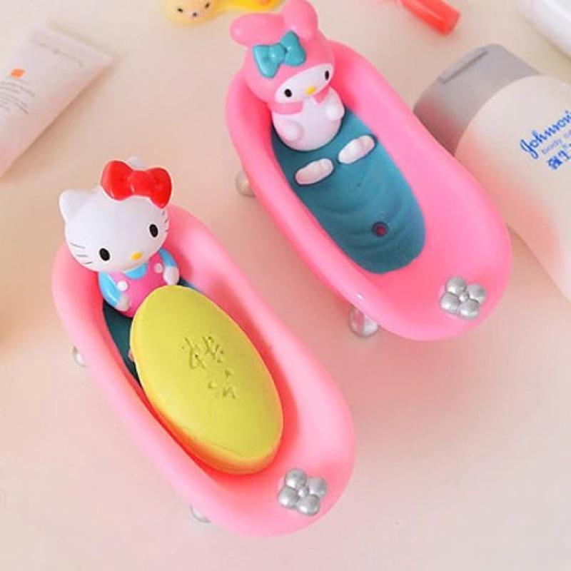 超可愛韓國卡通瀝水浴室浴缸香皁盒