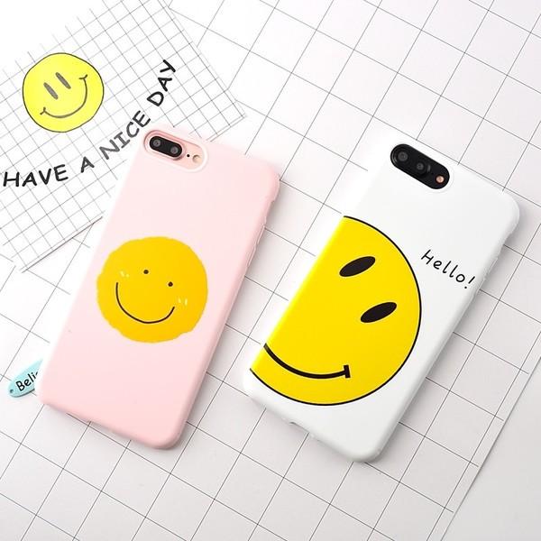 韓國 笑臉蘋果7 手機殼防摔iPhone7plus 保護套糖果矽膠全包外殼