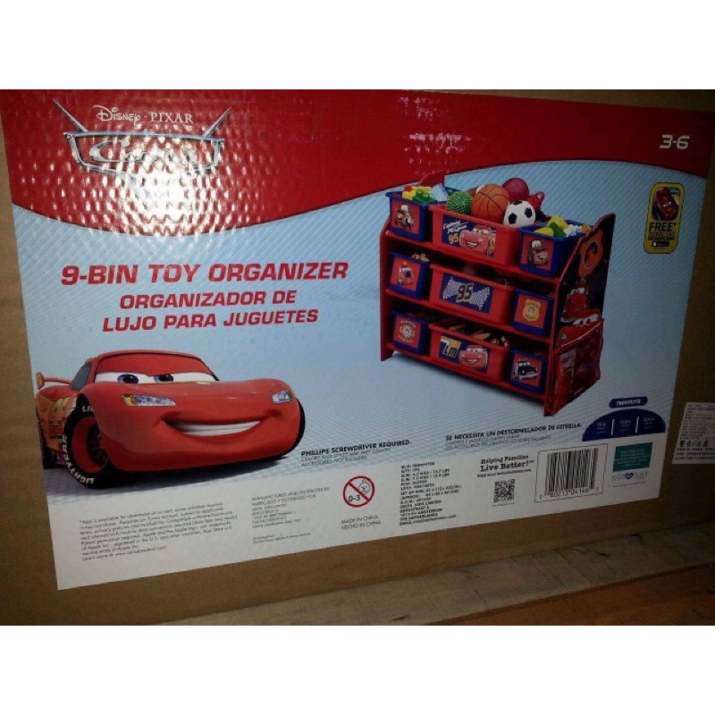 DISNEY 玩具收納櫃84 30 60 公分(麥坤)108346