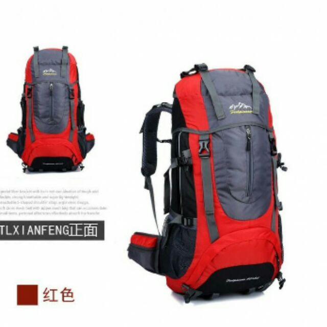 型3D 透氣登山背包、自助旅行雙肩背包60 5L