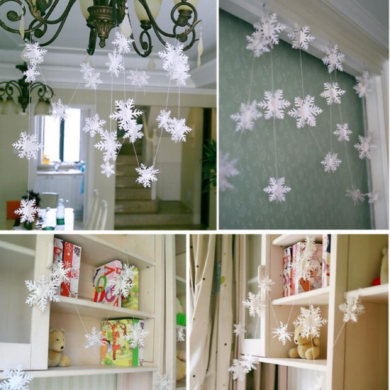 雪花佈置掛飾生日派對冰雪奇緣場地佈置聖誕節櫥窗裝飾