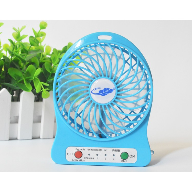 共田小風扇藍標版迷你風扇可充電風扇便攜風扇臺式風扇電池USB 風扇小型電扇手持學生宿舍大風
