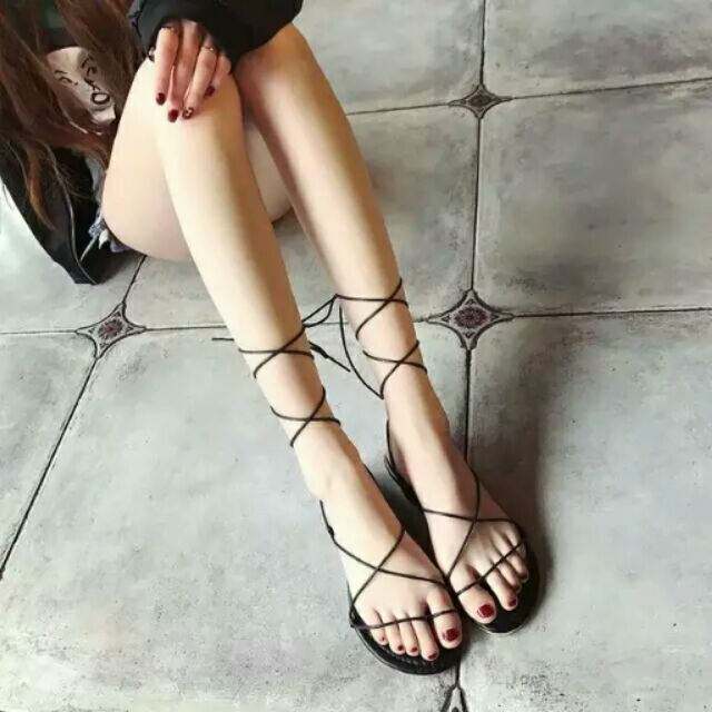 羅馬平底鞋綁帶鞋交叉綁帶鞋平底鞋羅馬鞋羅馬綁帶鞋涼鞋羅馬涼鞋露趾鞋夏天穿搭女鞋海島風羅馬平