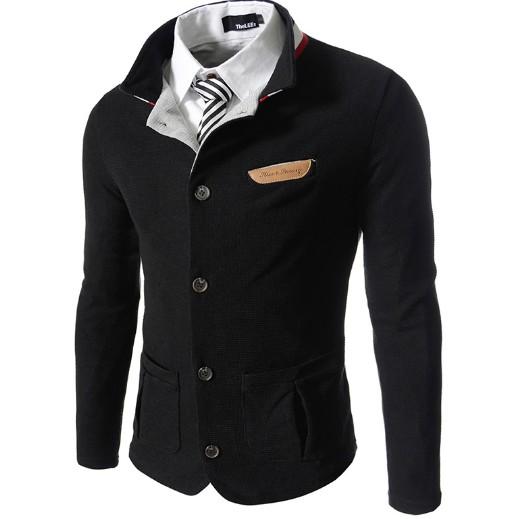 2016 青年 針織開衫男長袖修身英倫 男士秋裝夾克外套潮