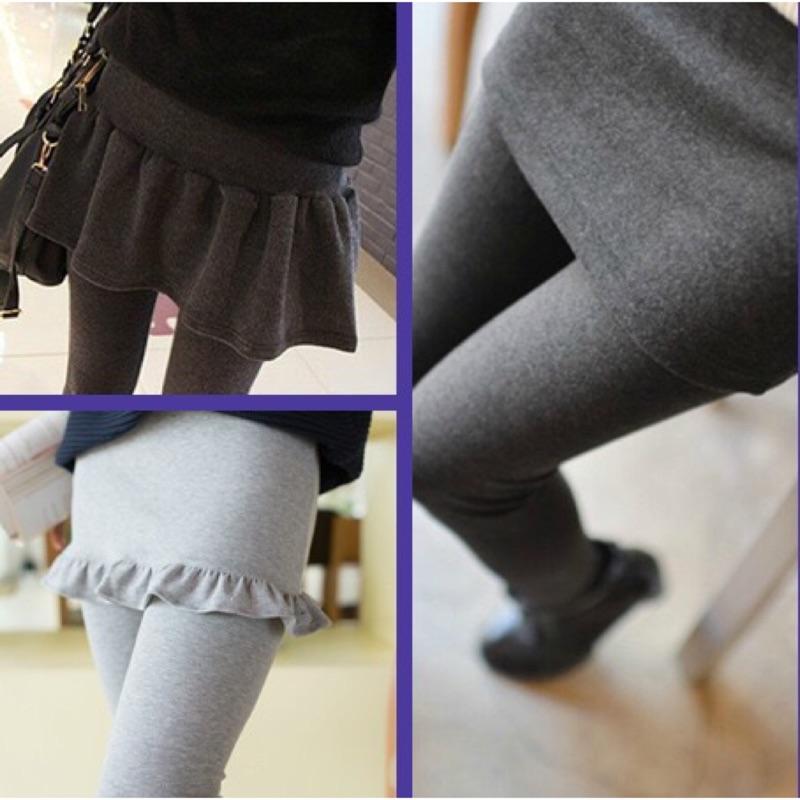 2016  女士打底褲裙褲子加絨加厚假兩件大碼顯瘦百褶裙