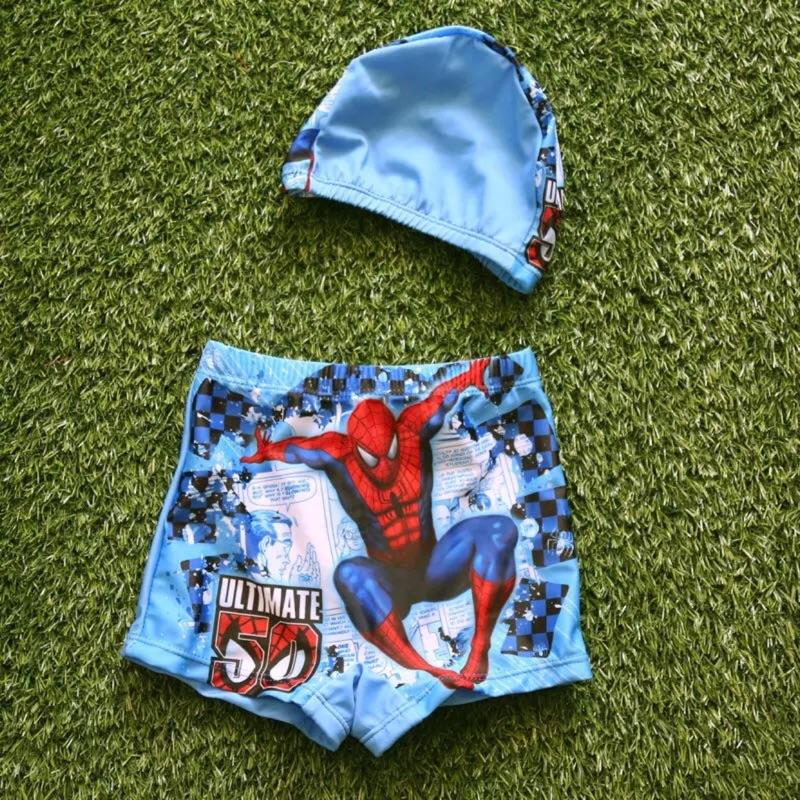 桑妮的寶物箱~兒童泳衣男童泳褲泳帽泳褲蜘蛛人麥坤粉奇企鵝湯瑪士維尼