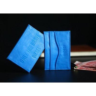 ~台中好物~美國DIESEL 復仇者聯盟聯名香水合作版限定贈品美國隊長藍名片夾卡夾卡包