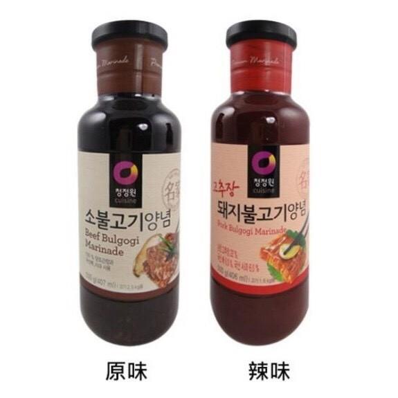 韓聚韓國韓式大象醃烤調味醬烤肉醬原味辣味500g 中秋節烤肉
