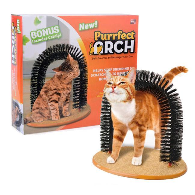 purrfect arch 貓刷蹭毛刷蹭毛器逗貓玩具