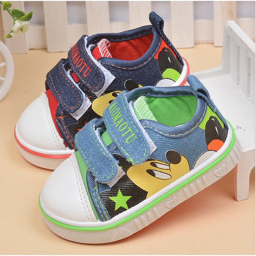 ♚C‧R♚16 21 碼)2016 春秋 兒童男女童小童寶寶學步鞋 鞋平底鞋米奇帆布鞋板鞋