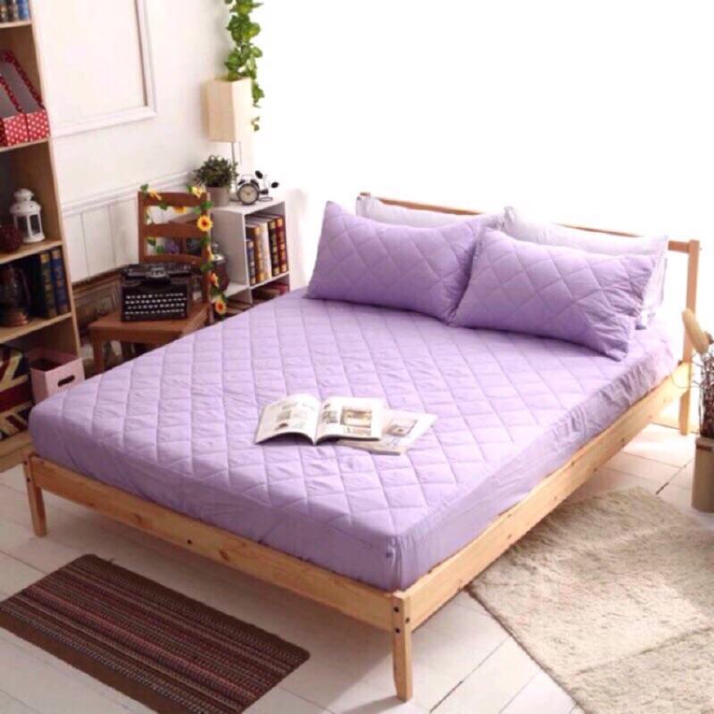 暢銷款TOP 馬卡龍色系•防汙床包式保潔墊•工廠 價薰衣草紫