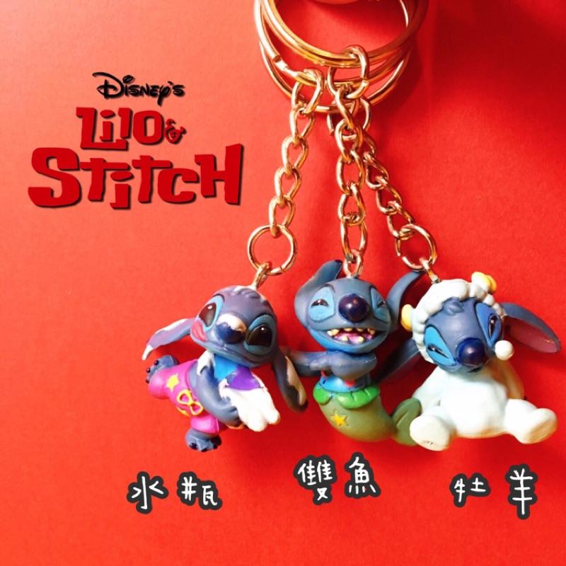 限定迪士尼史迪奇星座月份生日十二水瓶牡羊雙魚吊飾鑰匙圈公仔玩具