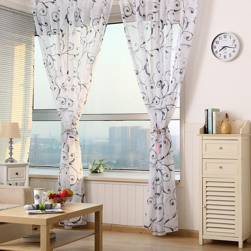 薄紗法國窗簾多色 单層半遮光飄窗落地門視窗房間裝飾客廳臥室兒童房臥室