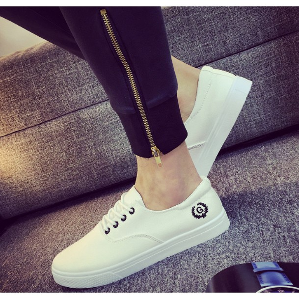 卡美拉衣櫃 男鞋潮流板鞋男 休閒布鞋男士帆布鞋白色學生透氣潮鞋30