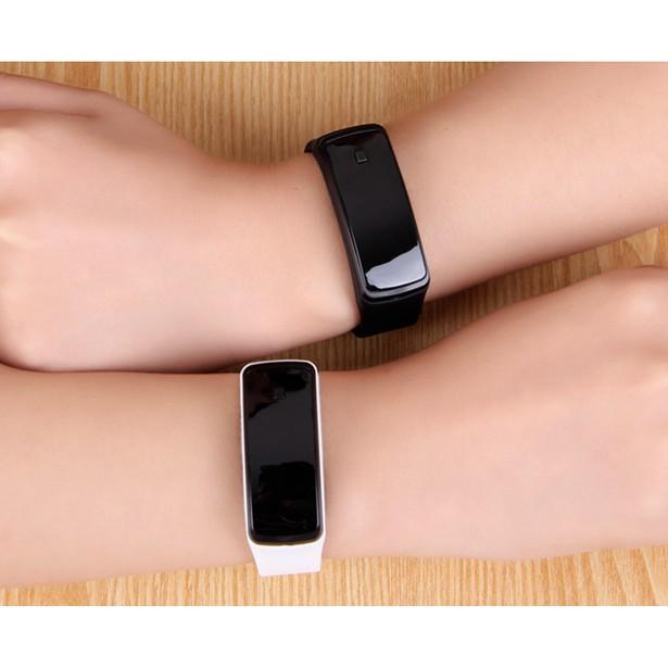 LED 觸控手錶夜光男女情侶錶韓國 潮流學生錶果凍手環防水電子手錶