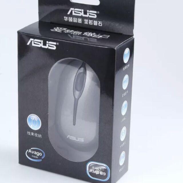 華碩 滑鼠繞綫伸缩家用辦公滑鼠有綫USB 筆記本台式電腦