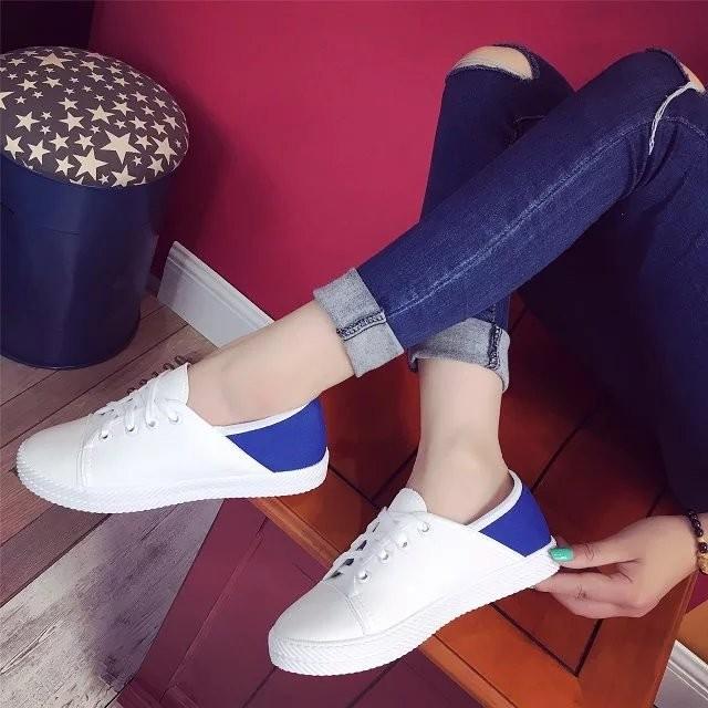 百搭小白鞋真皮系帶透氣  鞋女情侶板鞋學生女鞋潮