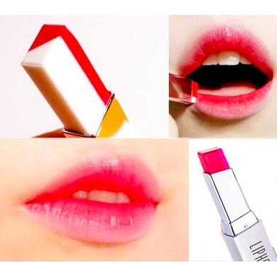 韓國正品LIPHOP MIXIU 雙色口紅咬唇妝漸層口紅雙色