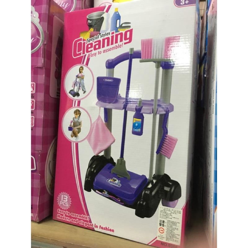 打掃清潔組,推車掃地工具