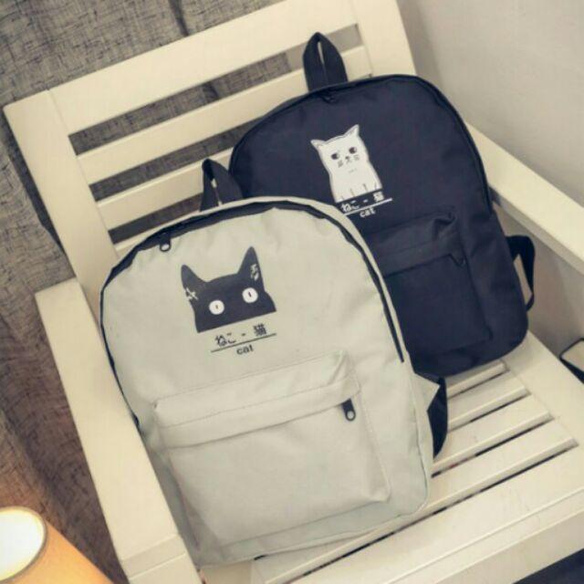 黑白貓背包~CAT s 貓森~ 可愛貓咪黑貓白貓貓咪喵咪後背包雙肩包︳臺灣自創品牌