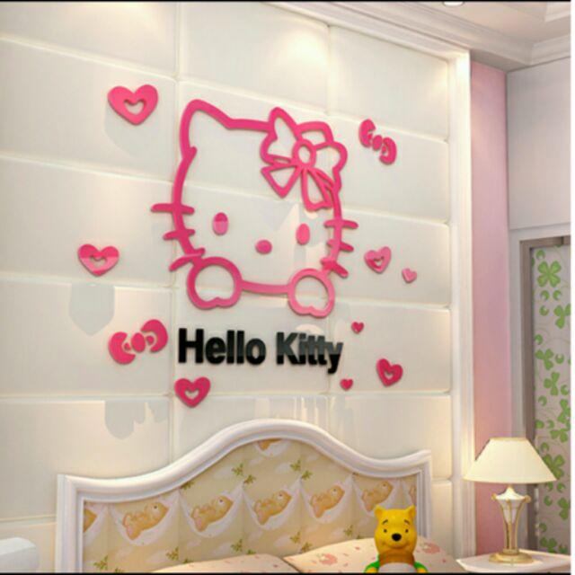 ~ ~Hello Kitty 壓克力3D 立體壁貼