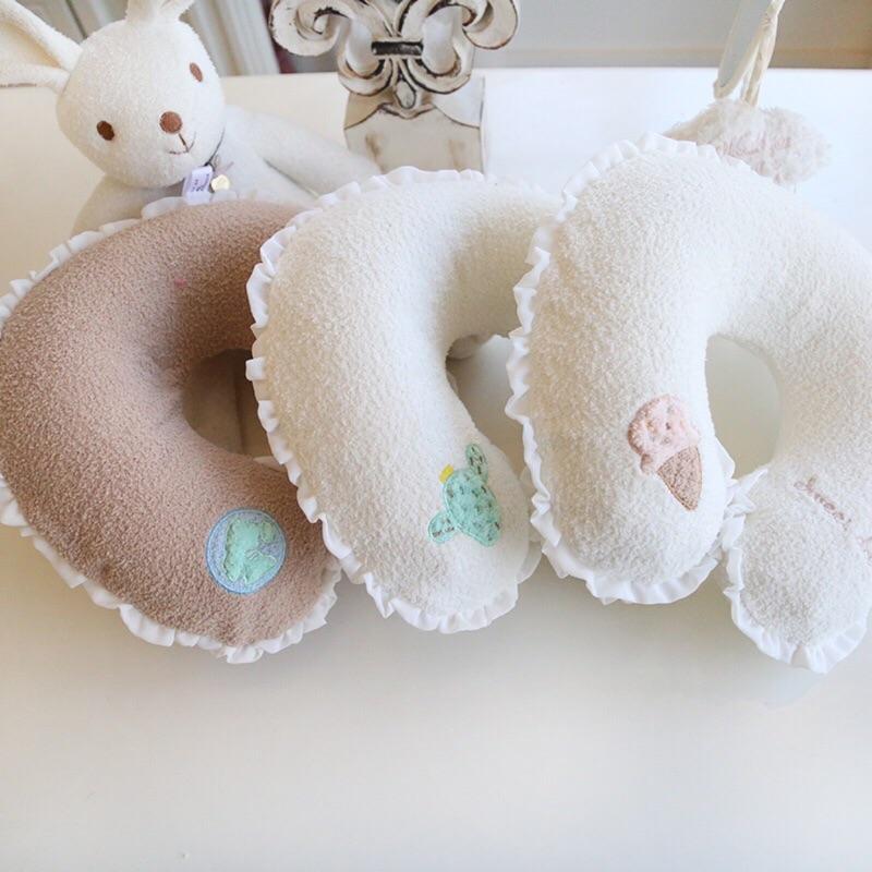 ✨ 、預售✨halluci 可愛軟綿綿便攜式充氣旅行U 型枕枕頭