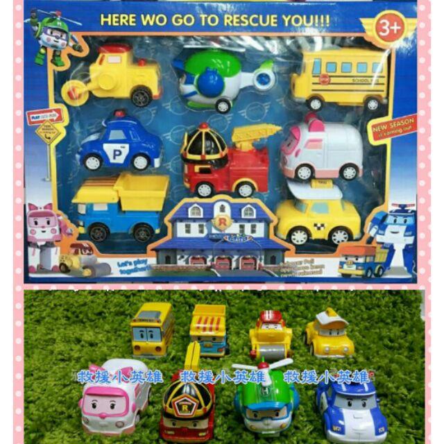 Q 版Poli 波力迴力車車車玩具飛機玩具