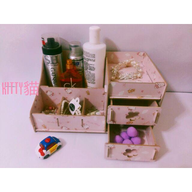 韓國DIY 木質化妝品收納盒