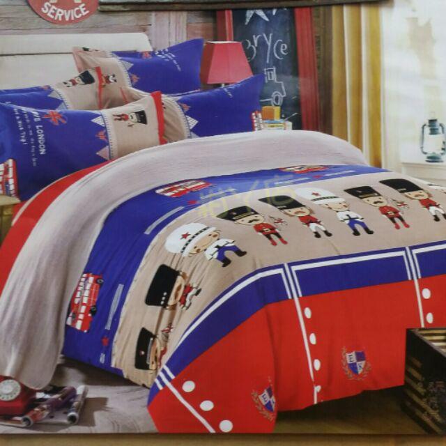 ~柑丫店~禁衛小兵雙人加床包3 件組4 件組床包枕頭套2 涼被6 ×6 2 尺床包組5 ×