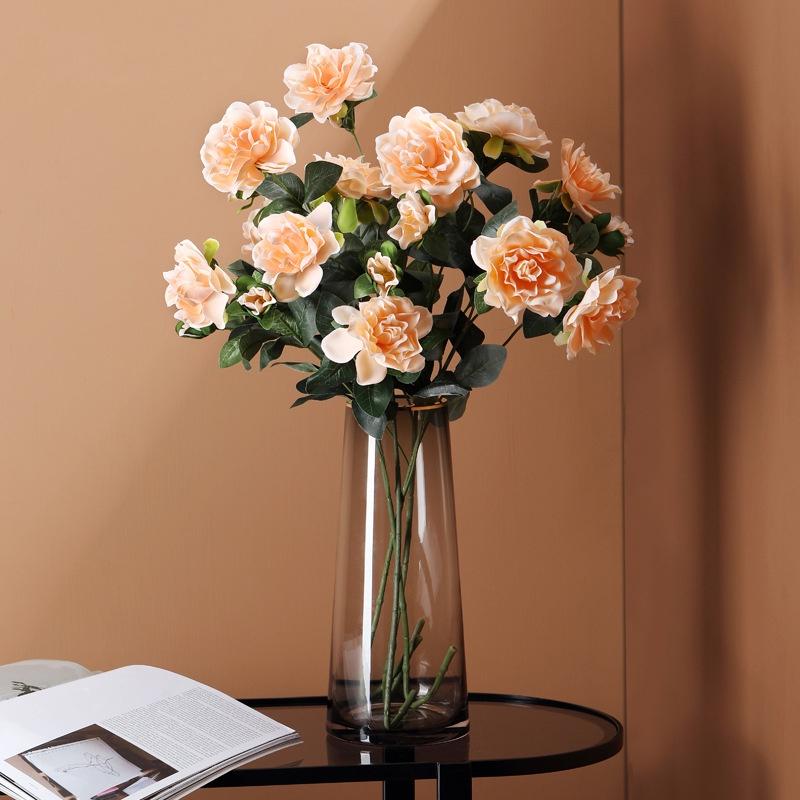 北歐假花仿真梔子花擺設客廳室內餐桌茶几電視柜花藝插花裝飾擺件