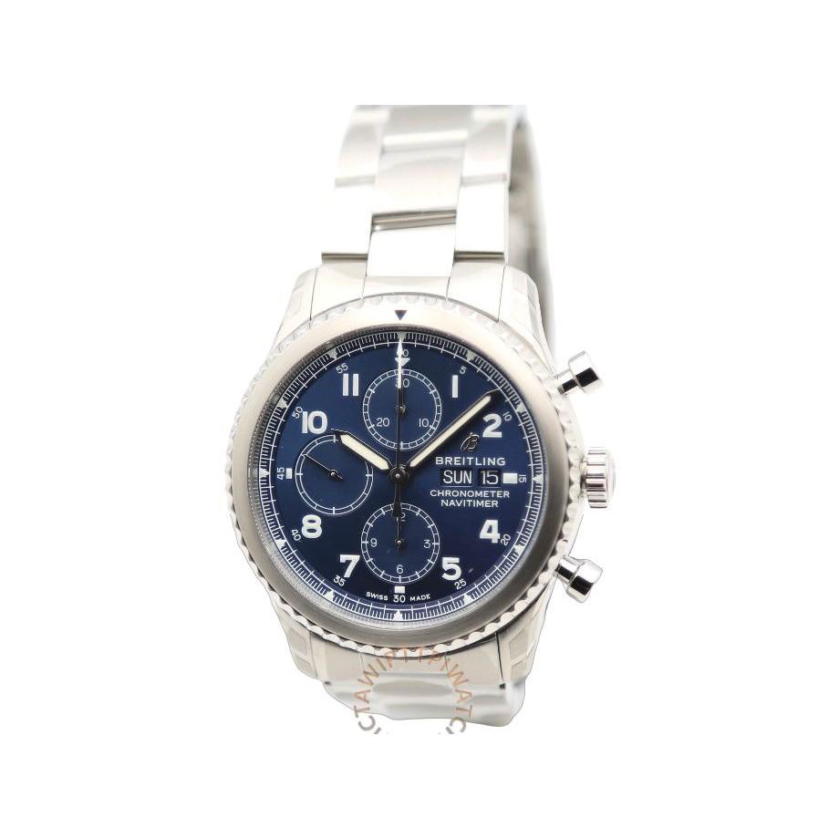 【BREITLING 百年靈】NAVITIMER 8 CHRONOGRAPH 43航空計時腕錶 鋼帶