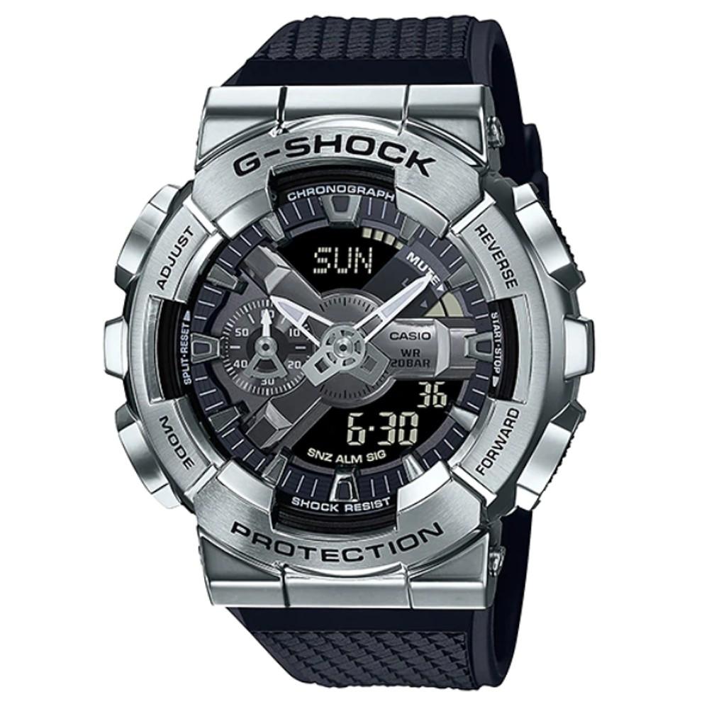 【CASIO】G-SHOCK 鍛造切割全金屬外殼 防磁 GM-110-1A 銀 原廠公司貨