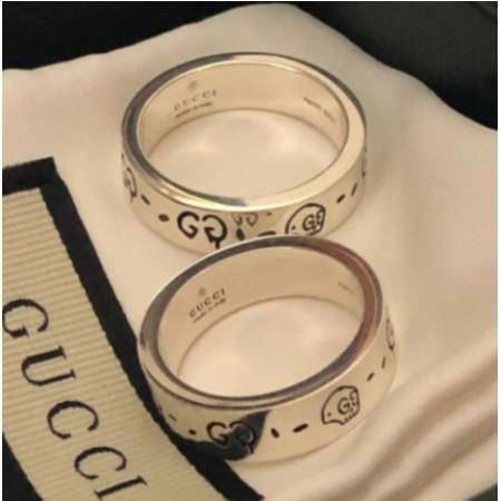 Gucci純銀戒指 (戒圍18)