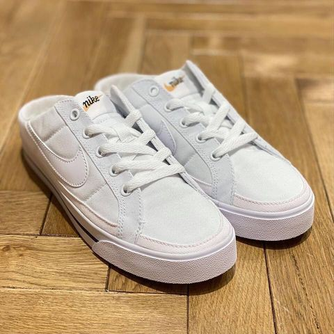 預購【NIKE】 2021春季日本最新款   穿搭必備基本款小白穆勒懶人鞋