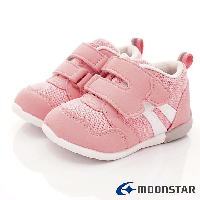 日本月星Moonstar機能童鞋 HI系列 3E學步款 1114粉(寶寶段)