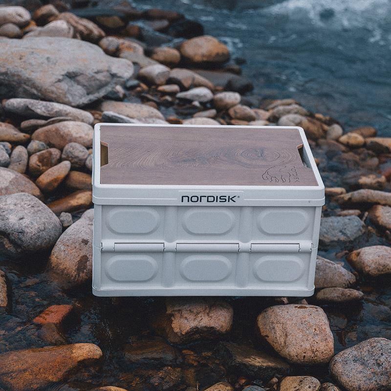 Nordisk大白熊收納箱戶外露營車載後備箱儲物箱折疊整理野營箱子正陽現貨熱銷~