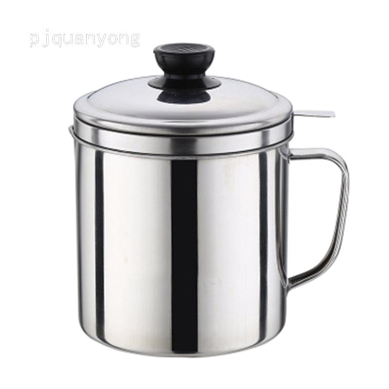 1.8l 不銹鋼機油濾鍋鍋烹飪湯油脂過濾器分離器家用