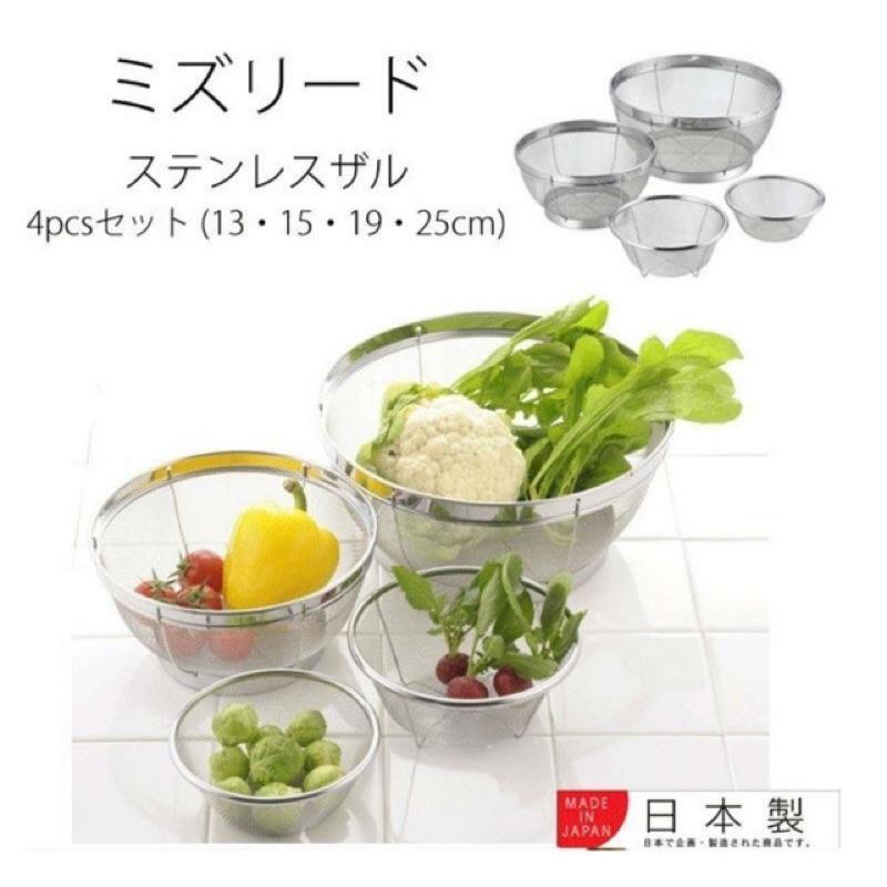 <樂麥屋> 日本304不鏽鋼多功能瀝水盆4件組