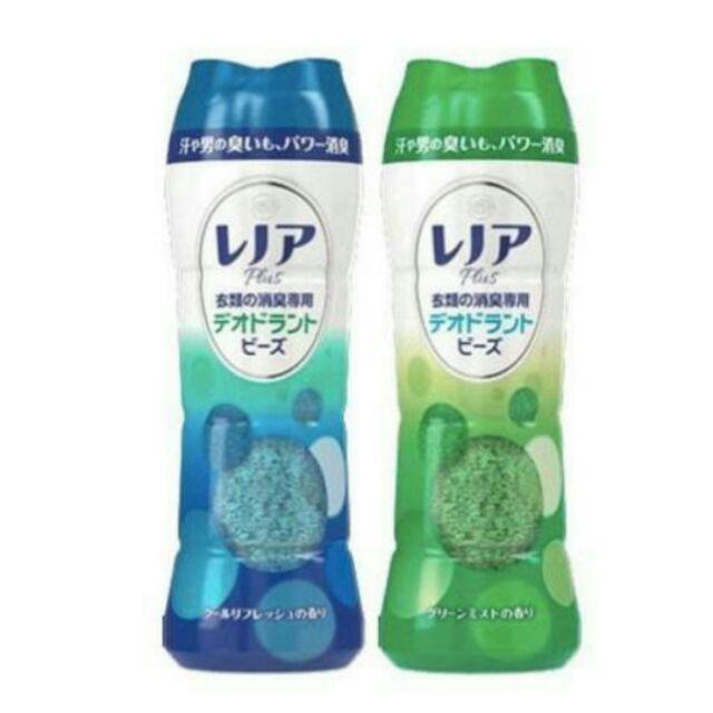 ☆°╮《艾咪小鋪》☆°╮日本 P&G 香香豆 衣物芳香顆粒 消臭淨白 375g 藍色-葡萄柚香 綠色-清新檸檬香