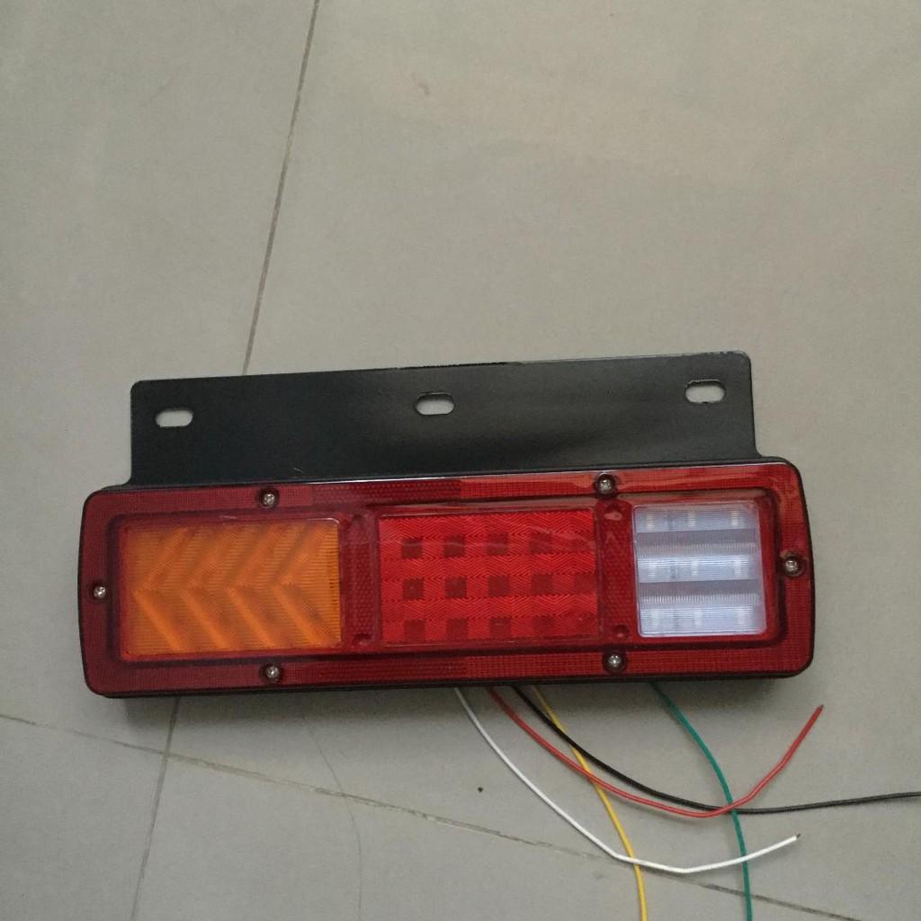 新款流光LED後燈組尾燈-含方向燈-煞車燈-倒車燈- 堅達- 一路發貨車3.5噸現貨供應-通用車款-送鐵座12V