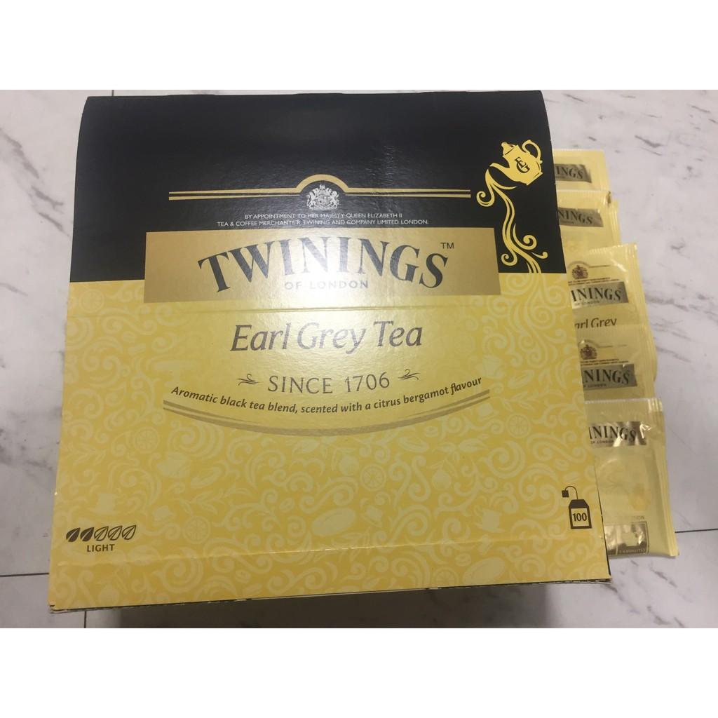 唐寧Twinings 伯爵茶 唐寧茶 皇家伯爵茶 茶包 獨立包裝可單買也可買一盒100包裝 好市多購入