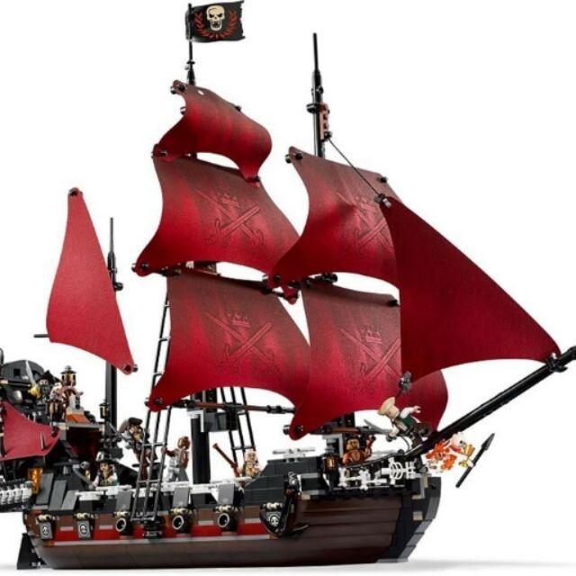 (已預定)現貨~樂拼16009加勒比海盜系列安妮女王復仇號益智拼裝拼插積木玩具