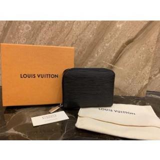 LV LOUIS VUITTON 路易威登 黑色 EPI 短夾 錢包 水波紋 拉鍊零錢包  M60152