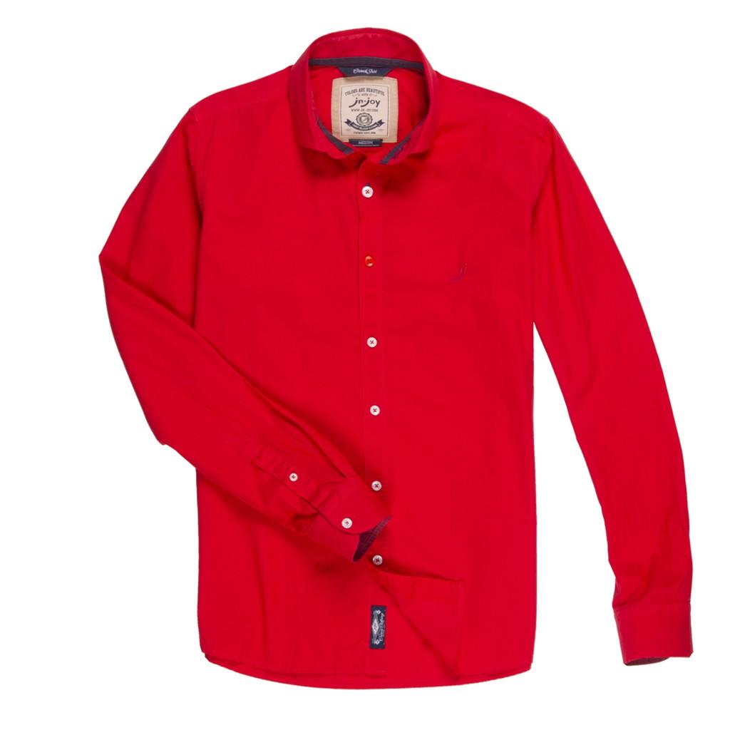 J&Joy 男質感紅長袖襯衫 J181-M07-02-03